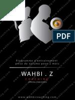 Programme Volume Light