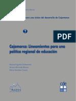 Lineamientos de politica educativa Cajamarca
