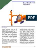 Especificación DX 700