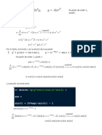 Ejercicio Clasificacion de Ecuaciones Diferenciales