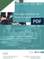 Informações Analista de Perfil Comportamental