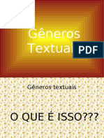 Gêneros textuais - o que é isto