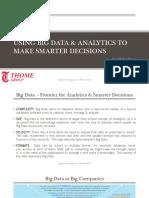 Using Big Data & Analytics to Make Smarter Decisions
