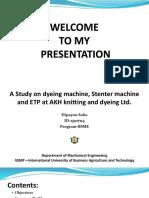 A study on dyeing machine & ETP