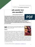 gregorio hz - ¿Se puede leer sin escribir?
