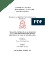 Caracterización de Minerales de Alteración Paipa_eh_vg_201801