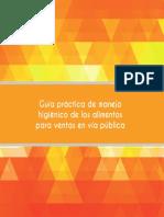Guía Práctica de Manejo Higiénico de Alimentos Para Ventas en Vía Pública