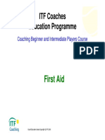 ITF Coaches Education Programme First Aid