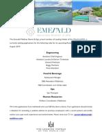 Emerald Maldives - Job Posting 27th July - New