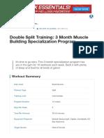 Double Split Training_ 3 Month Muscle Building Specialization Program _ Musc