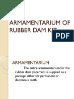 Armamentarium of Rubber Dam Kit
