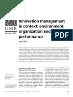 Tidd-2001-International Journal of Management Reviews