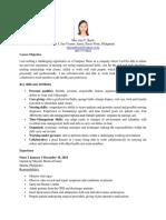 Curriculum Vitae-Mae Ann Bayle