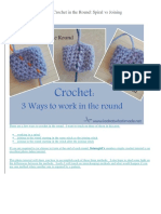 How to Crochet in the Round 3 Methods