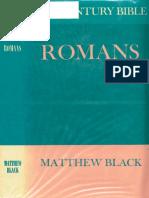 [New Century Bible Commentary] Matthew Black - Romans , 1973