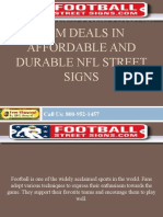 FootballStreetSigns.com Deals in Affordable and Durable NFL Street Signs