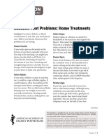 Common Foot Problems Home Treatments