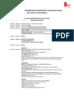Programa Congreso Bellas Artes