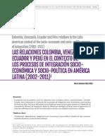Lazos Historicos La Gran Colombia
