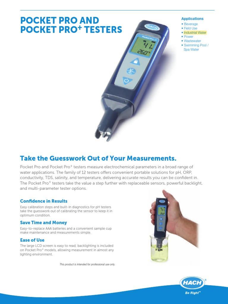Hach 9531000 Pocket Pro pH Tester