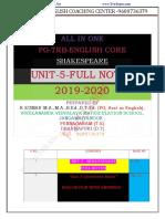 Pgtrb English Unit 5 Study Material