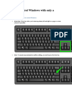 How to Control Windows With Only a Keyboard