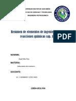 Resumen Fogler Cap. 1-3