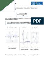 Fórmulas Quadráticas