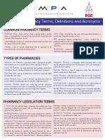 Pharmacy Terminology