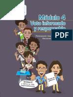 Capacitación Electoral Módulo 04, Voto Informado y Responsable, TSE Guatemala 2019