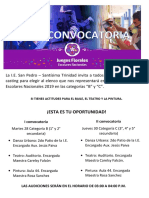 convocatoria florales 2019