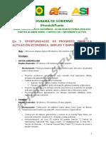 Programa de Gobierno Maria Claudia Pinilla Castañeda- Partido Verde