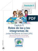 Instructivo de Roles de JRV, Fascículo II, TSE Guatemala
