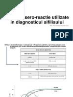 Teste de Sero-reactie Utilizate in Diagnosticul Sifilisului