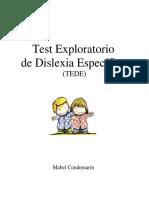 test explorativos de dislexia