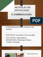Portfólio Histologia e Embriologia Pratica 3
