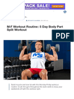 M-F Workout Routine_ 5 Day Body Part Split Workout