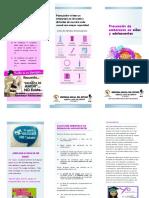 Folleto SEMANA ANDINA - Prevención Embarazos