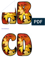 Free Print Able Lettering Sets for Autumn Fall Displays