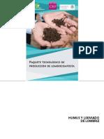 1 Paquete Tecnologico de Produccion de Lombricomposta