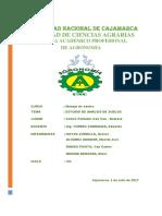 Estudios de Analisis de Suelos en El Centro Poblado Cau Cau Namora