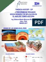 EMA_Registros Sísmicos Peruanos Según REDACIS y Su Aplicación en El Análisis Tiempo Historia