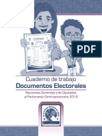 Manejo de Actas y Documentos, Cuaderno de Trabajo para JRV, TSE Guatemala 2019