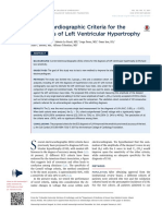 Electrocardiographic Criteria for the Diagnosis of Left Ventricular Hypertrophy