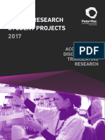 Peter Mac-2017 Cancer Research Student Projects