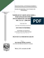 Modelos de M-Varch Portafolios de Indices Fros