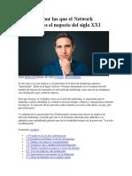 20 Razones Por Las Que El Network Marketing Es El Negocio Del Siglo XXI