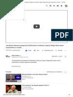 Jornalista Francesa Pergunta Se Bolsonaro Continua a Apoiar Sergio Moro Após Vazamentos e Recebe.. - YouTube