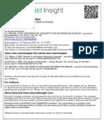 N. J. Belkin - Information Concepts for Information Science