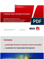 Huawei Creating Value Through Innovation